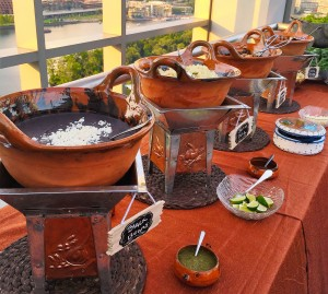 Contemporary Mexican style chafing dishes
