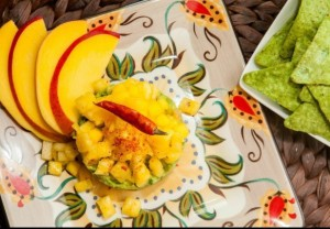 Guacamole with fresh pineapple